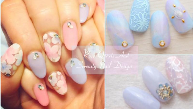 石英粉x寧靜藍!適合春天的粉嫩美甲,讓指尖也換上年度顏色吧