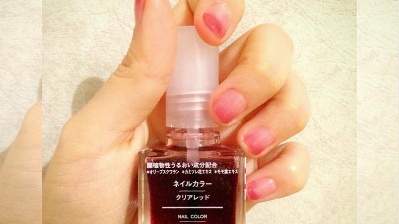 無印良品血色指甲油讓女孩瘋狂,透明果凍紅最迷人~