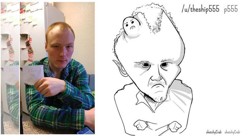 網友po照「求羞辱」,被畫家亂畫一通看完都崩潰了
