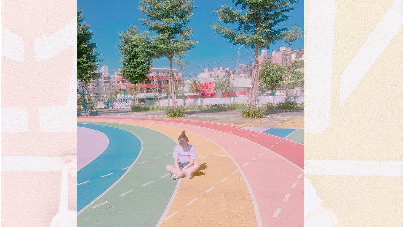 誰說跑道只用來跑步?臺中拍照必去「彩虹跑道」...夢幻的顏色超有少女心啊!