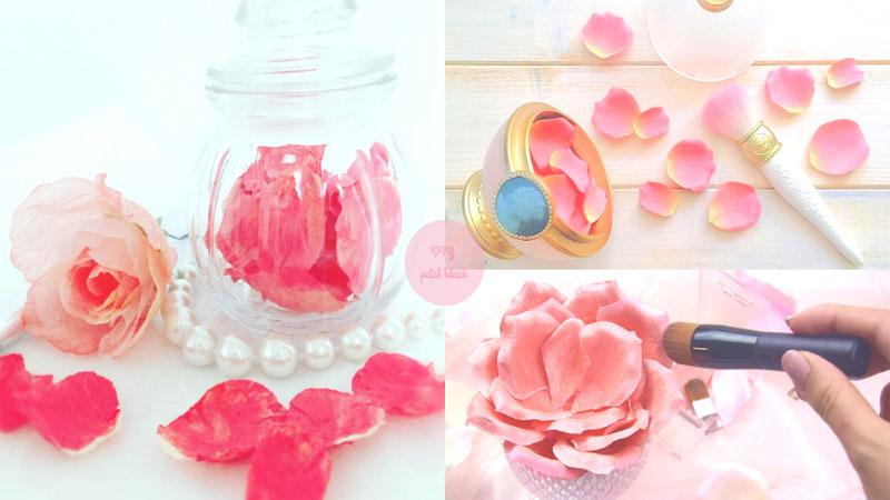 不用花大錢買了啦!DIY 超夢幻100円花瓣腮紅,動手做出專屬自己的完美腮紅吧!