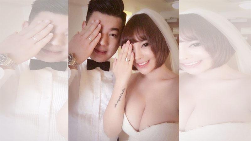 太火辣/美女書法家趙芸 炸乳出嫁婚紗包不住