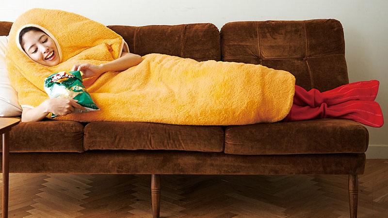 ♪《炸蝦睡袋》人生從沒想過自己能有變成炸蝦的一天(光)