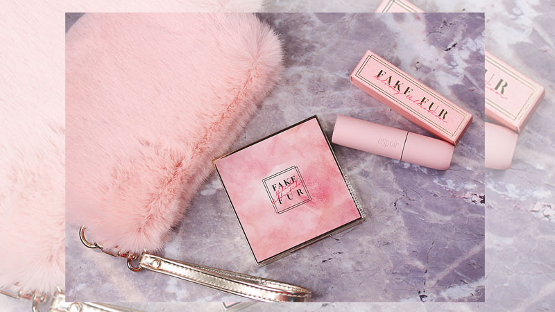 eSpoir給妳毛茸茸的粉色組合FAKE FUR系列,眼影美的程度可以直逼專櫃等級了!