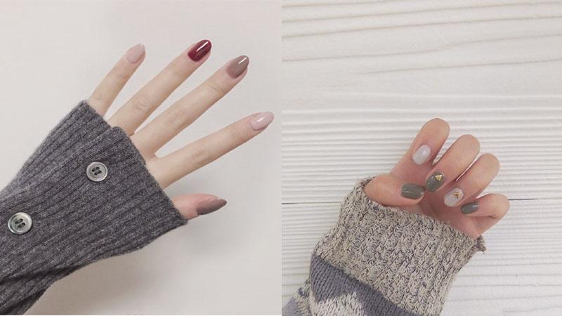 還是純色最適合秋冬!25款簡約跳色美甲,絕對有讓人放棄出去做指甲的衝動啊!