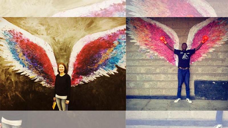LA爆紅天使翅膀降臨台灣囉~女孩們快點戴上翅膀飛上天吧!