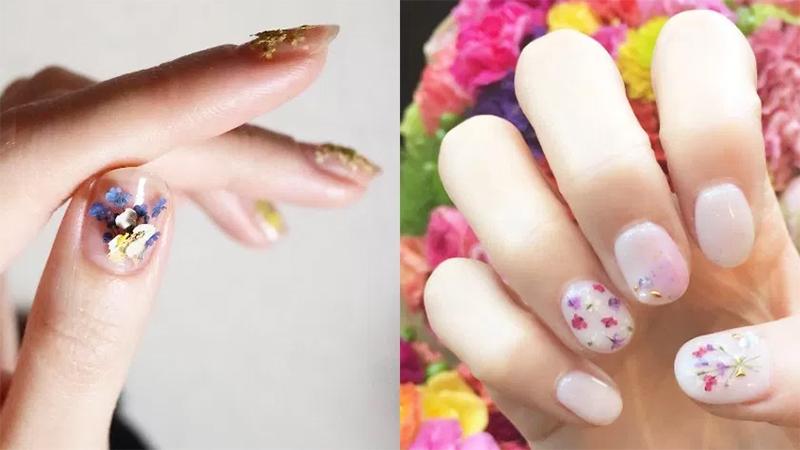 日本女生熱捧中:小清新系壓花美甲,讓指尖也沾上優雅氣質!