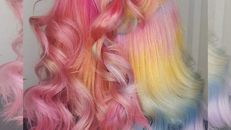 《獨角獸星冰樂染髮》在頭髮上也是個超夢幻髮型