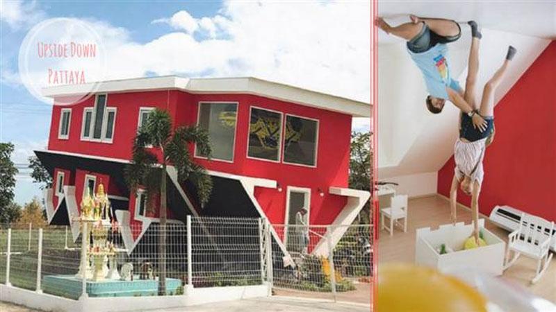 ♪如果世界倒轉了生活將會變成怎麼樣?泰國芭達雅超神奇「顛倒房屋」,相信拍一整天照都絕對不是難事吧~